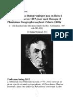 Hornemann Fragmentariske Bemærkninger paa en Reise i Norge i Sommeren 1807, især med Hensyn til Planternes Geographie