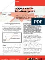 Recovery and Regeneration for Long-Term Athlete Development