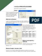 Examen de Excel Aplicaciones
