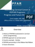 Carol Langley on USG Support for Addressing Cervical Cancer