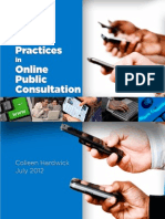 Best Practices in Online Public Consultation