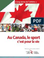 Document de référence « Au Canada, le sport c'est pour la vie »