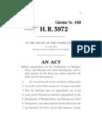 2013 Transportation Spending Bill