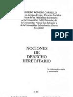 Nociones de Derecho Hereditario - Roberto Romero Carrillo