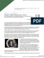 Obama's Enemies List—Part II - WSJ