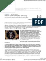 Obama's Imperial Presidency - WSJ