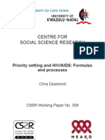 Priority setting and HIV/AIDS