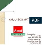 Amul- Bcg Matrix