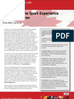 Maximizing the Sport Experience for Our Children