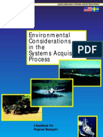 Handbook Environmental Considerations in the Systems AcquisitionProcess