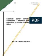 KS 1876-2-2010 Overhead Power Lines for Kenya - Safety (2)