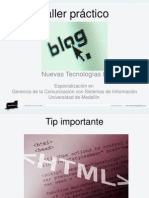 Taller Practico Blogs #GCcSI