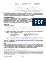 California Foreign Corp Registration