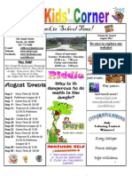 Children's Newsletter August