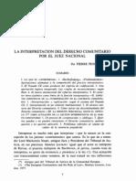 La interpretación del Derecho Comunitario por el Juez Nacional (Pierre Pescatore)