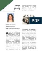 Importancia de las relaciones publicas para las empresas y la comercialización.
