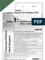 Caderno de Prova_Analista Judiciário do TST_2008_ CESPE