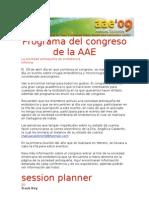 Programa Del Congreso de La AAE