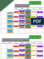 August Fitness Class Schedule