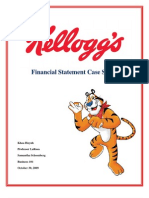 Kellogg's Financial Statement Case Study