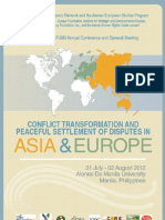 Conflict Transformation & Peaceful Settlement of Disputes in Asia & Europe Program & Profiles ASEFUAN