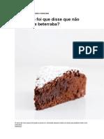 Receita de Bolo de Chocolate e Beterraba
