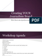 Creating Your Journalism Brand