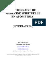 Apometria Fr Dictionnaire de Medecine Spirituelle