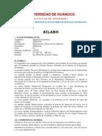 Silabo descriptivo Ingenieria Económica 2011-II