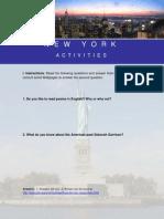 Goodbye New York Activities