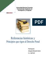 Referencias históricas y Principios que rigen al Derecho Penal