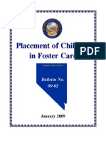 Placement of Children in Foster Care, NV Leg Rep 2009