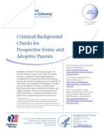 Criminal Background Checks for Prospective Foster and Adoptive Parents-2011