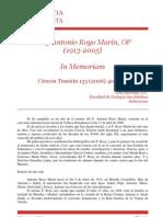 In Memoriam Antonio Royo Marin, OP
