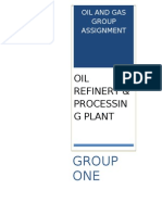 OIL RIFINERY AND PROCESSING PLANT