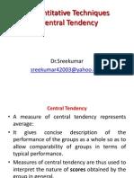Quantitative Techniques by Dr. Shreekumar