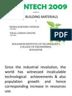 PROJECT (Green Materials){Greentech`09}PDF