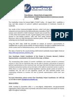 CCHR 01Aug2012 Press Release - CCHR Publishes Data on Women Political Representation_ENG