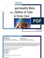 Disproportionality Rates for Children of Color in Foster Care, 2008 (Tribal Only)