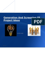 Generation and Screening of Project Ideas Project Management