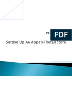 Project on Setting Up an Apparel Retail Store