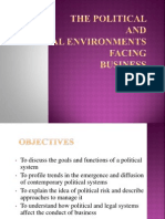 The Political and Legal Environments Facing the Business