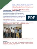Kolkatta_Mumbai_Fast Track CFP Exam 5(Final Exam) Preparation Training Workshop_August12 Schedule