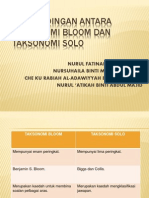 Perbandingan Antara Taksonomi Bloom Dan Taksonomi Solo