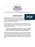 Press Release - MISA -TAN July 31 2012