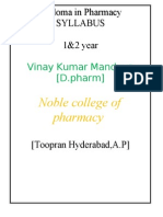 D_Pharm Syllabus India