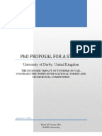 Phd research proposal in economics