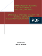 Tourism Management Research - Gambling as a Tourism Strategy for Regional Communities - Brian m Touray - Griffith University