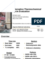 Alternative Thermochemical Cycle Evaluation