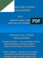 Kuliah 9 Kaedah & Teknik